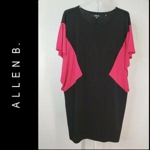 Allen B Dress Women Batwing Sleeve Dress Size XL